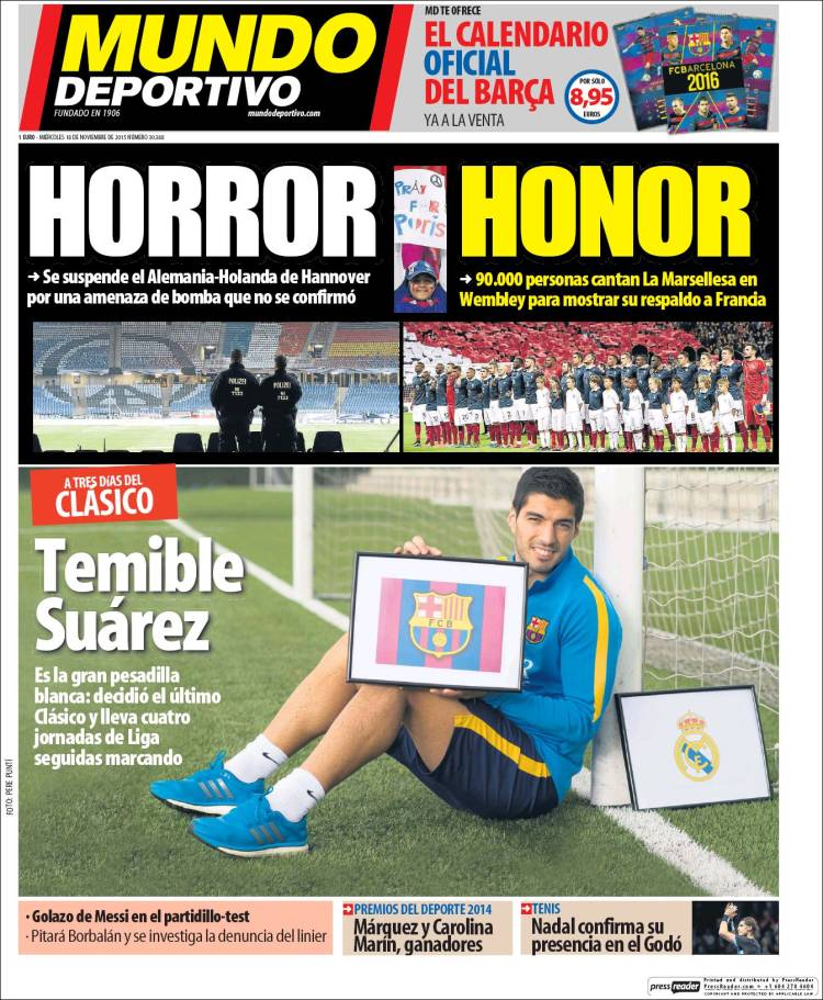 mundo deportivo horror honor