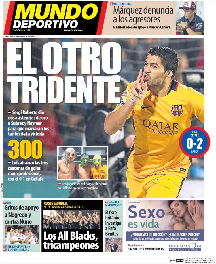 Mundo Deportivo Portada 01.11.15