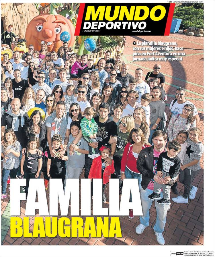 Mundo Deportivo Portada 07.11.15