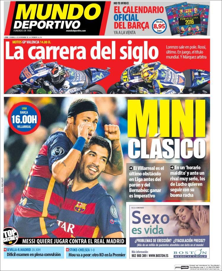 Mundo Deportivo Portada 08.11.15