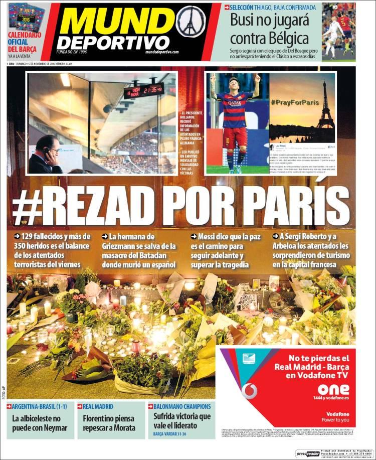 Mundo Deportivo Portada 15.11.15