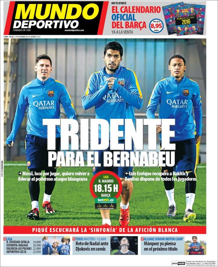 Mundo Deportivo Portada 21.11.15