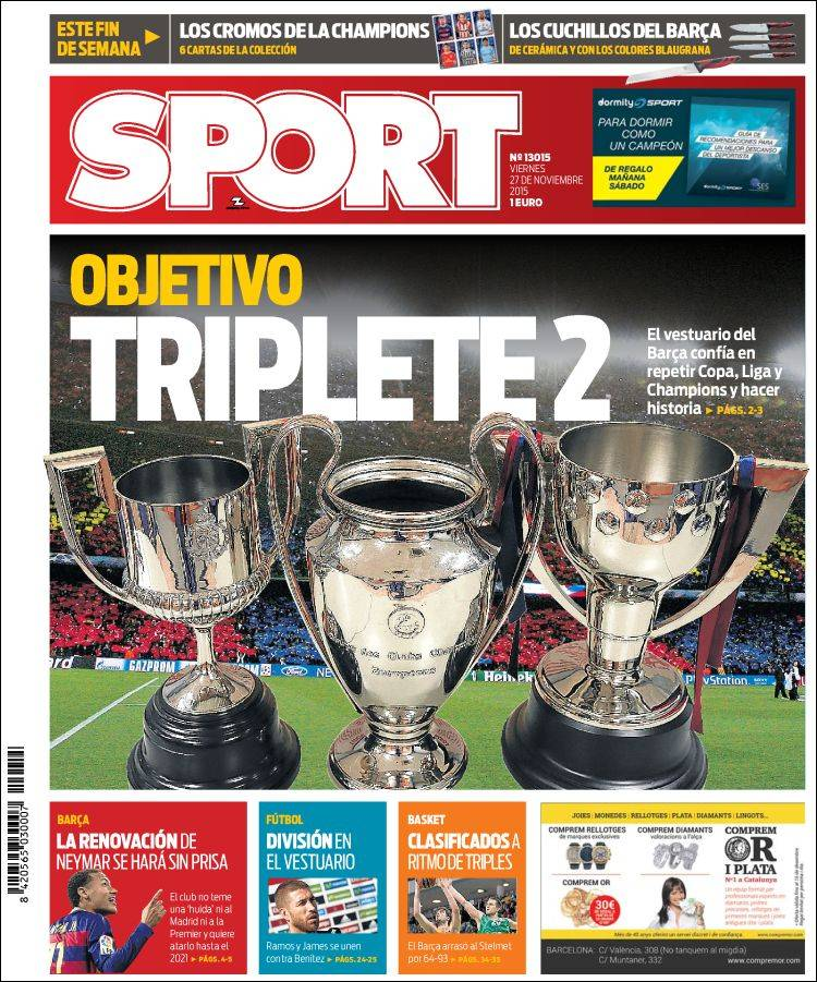 Sport Portada 27.11.15
