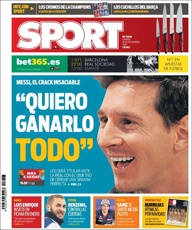 Sport Portada 28.11.15