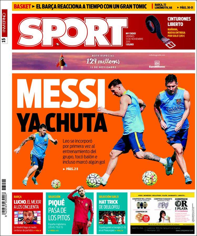 Sport Portada 13.11.15