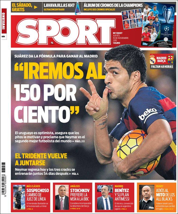 Sport Portada 19.11.15