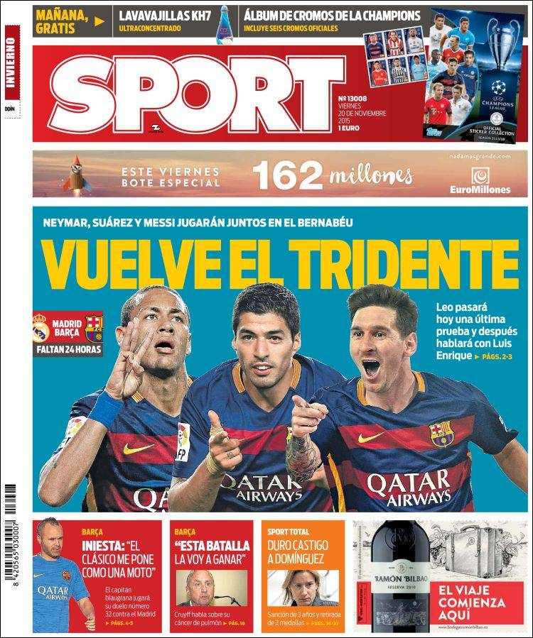 Sport Portada 20.11.15