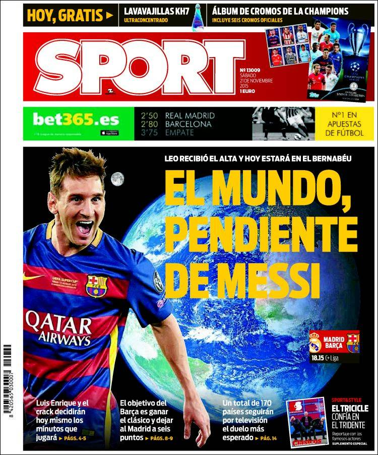 Sport Portada 21.11.15