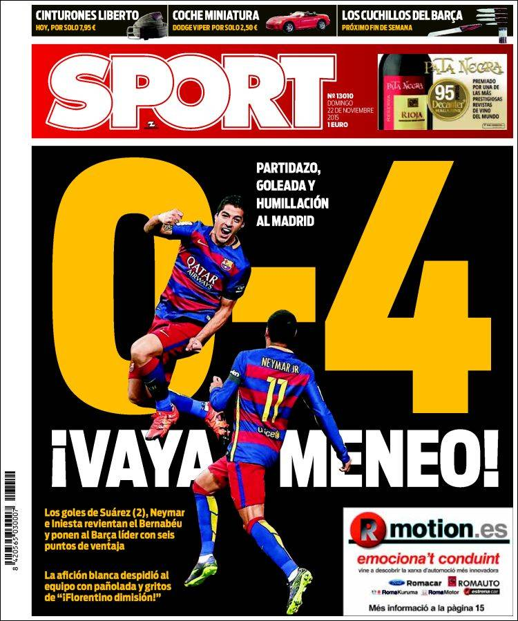 Sport Portada 22.11.15