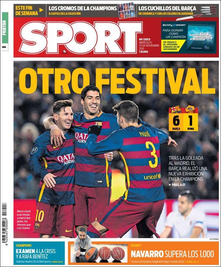 Sport Portada 25-11-15
