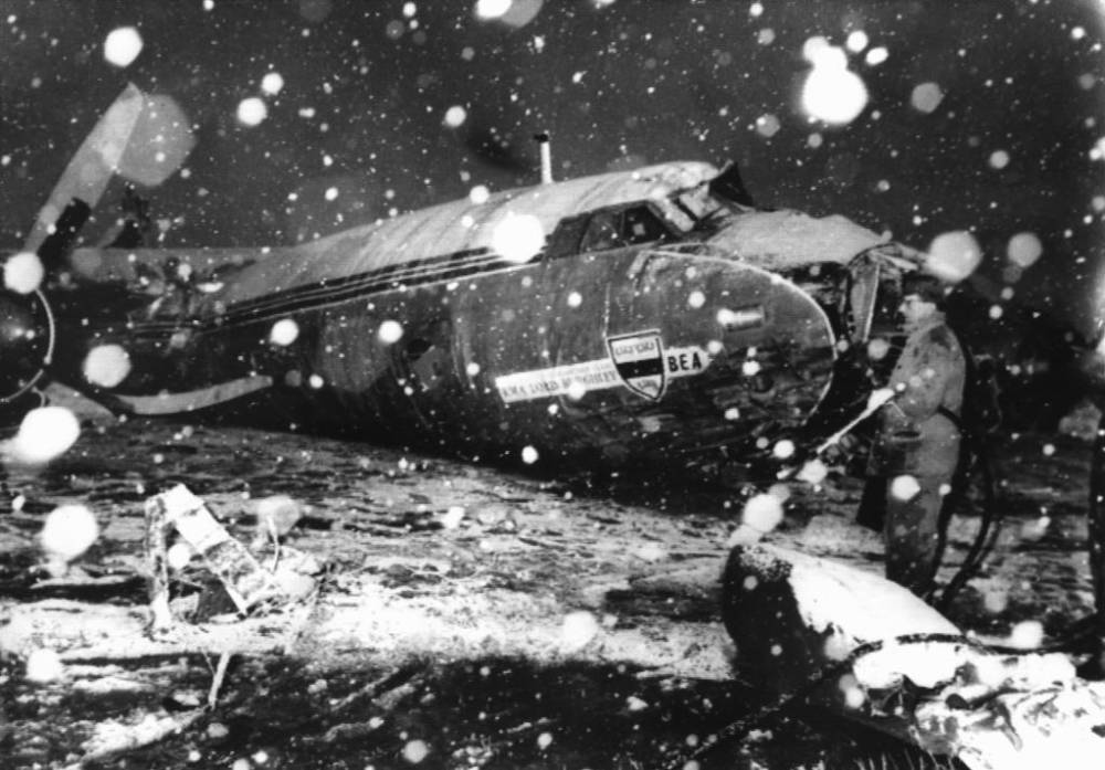Accidente avión Manchester United
