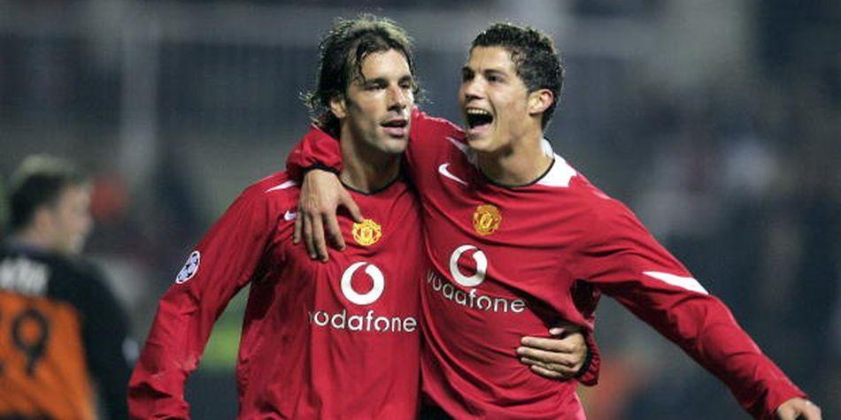 Van Nilstelroy y Cristiano Ronaldo