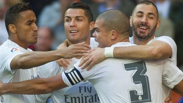 celebracion gol real madrid