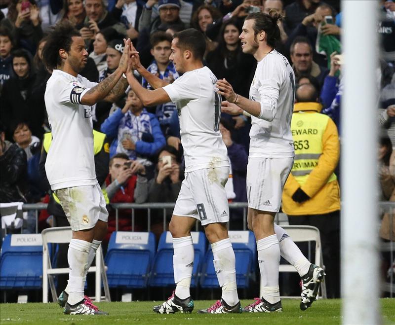 lucas váquez celebra gol