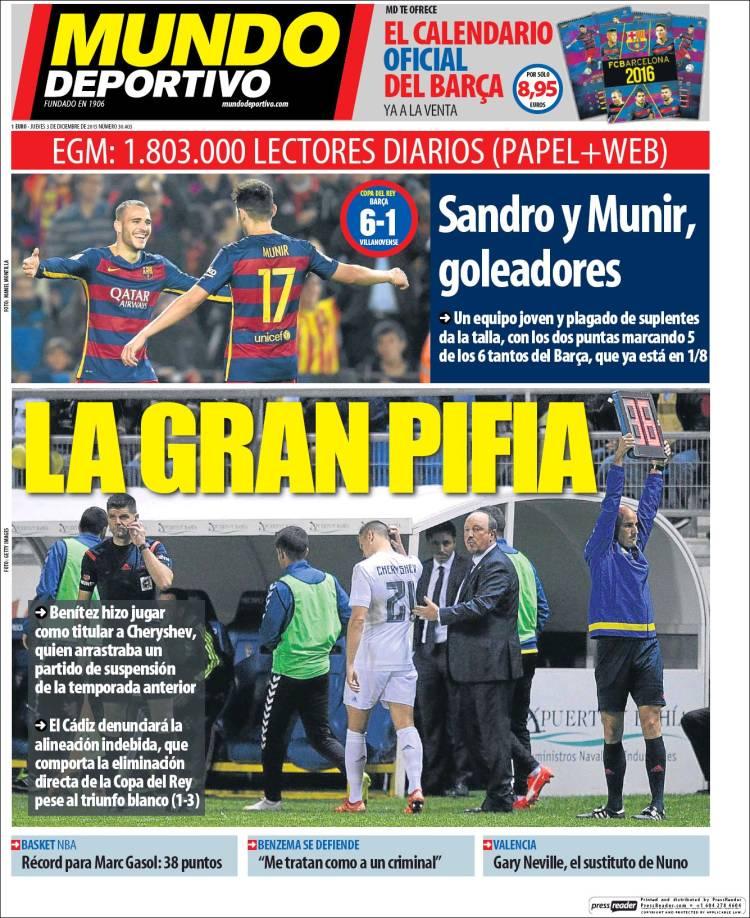 Mundo Deportivo 03.12.15