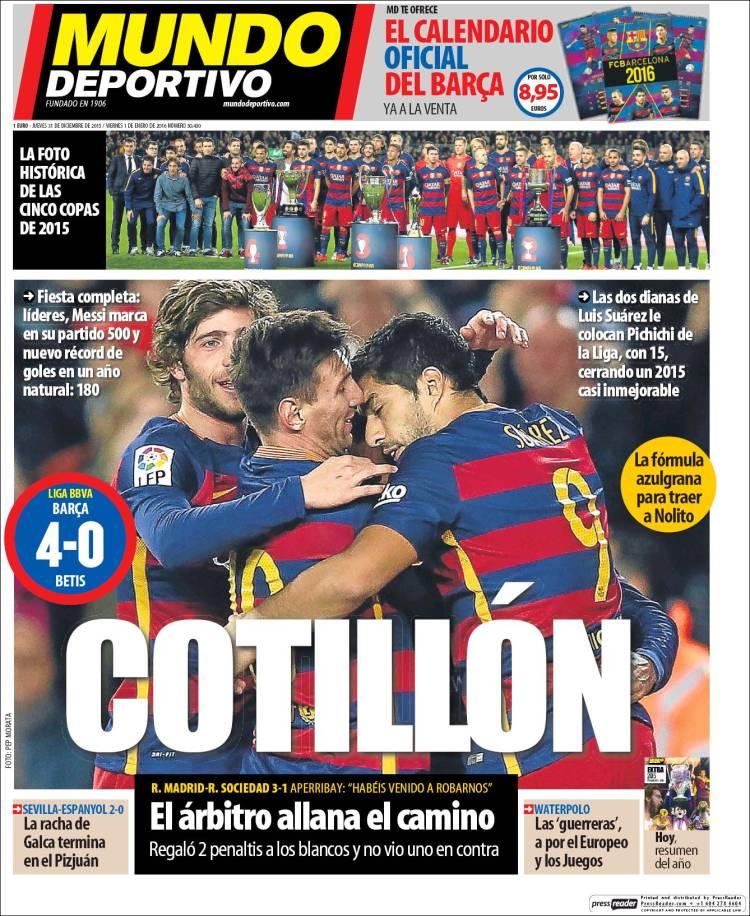 Mundo Deportivo 31.12.15