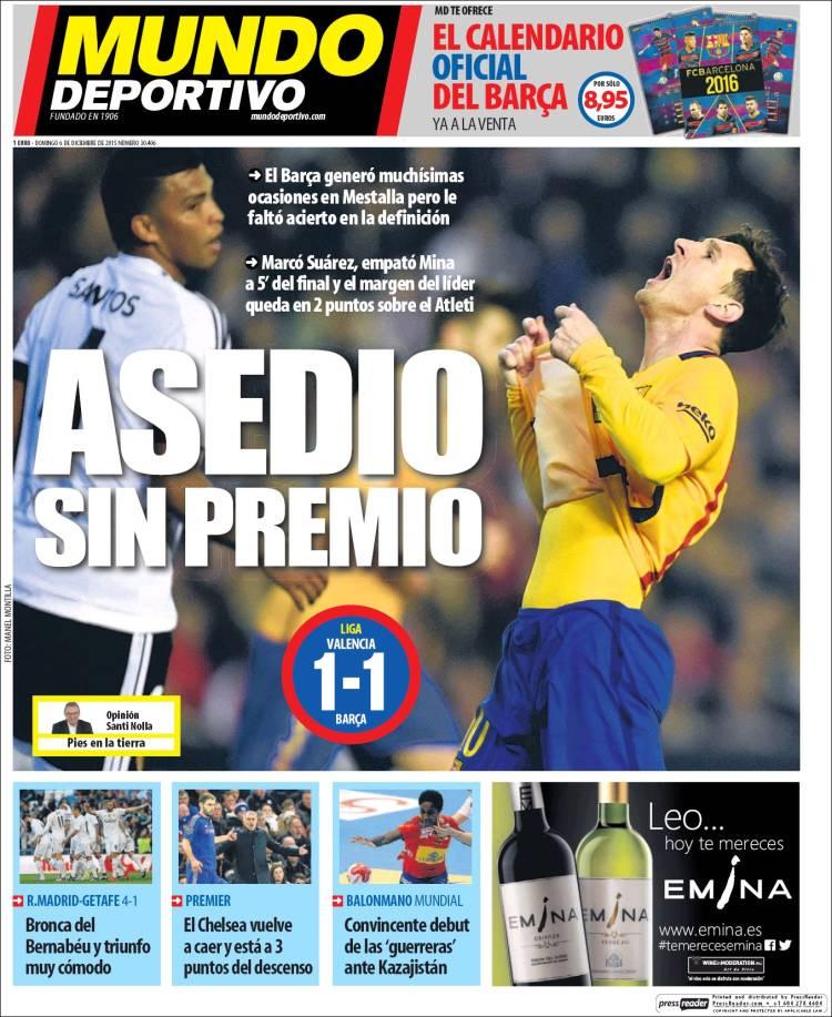 Mundo Deportivo Portada 06.12.15
