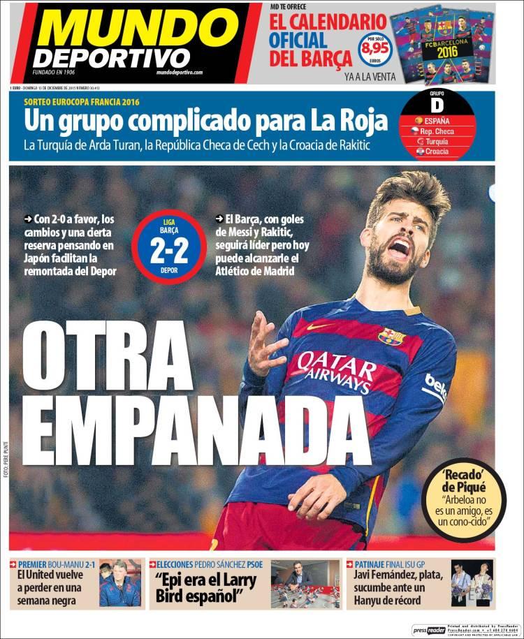 Mundo Deportivo Portada 13.12.15