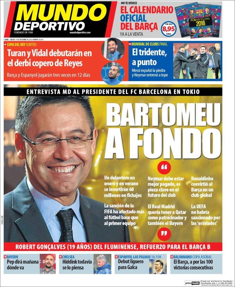 Mundo Deportivo Portada 19.12.15