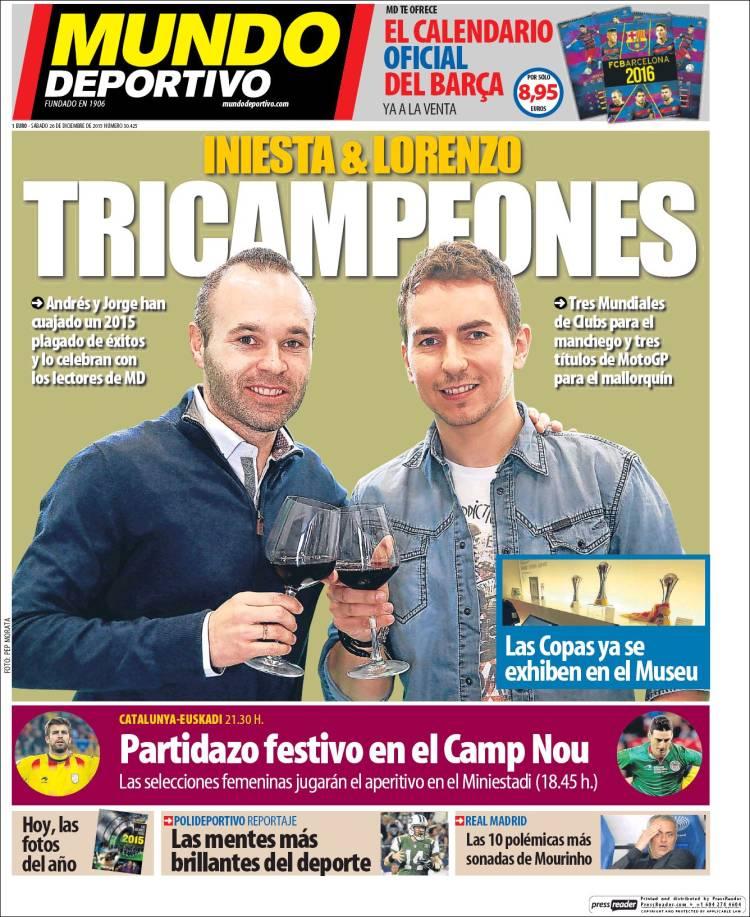 Mundo Deportivo Portada 26.12.15