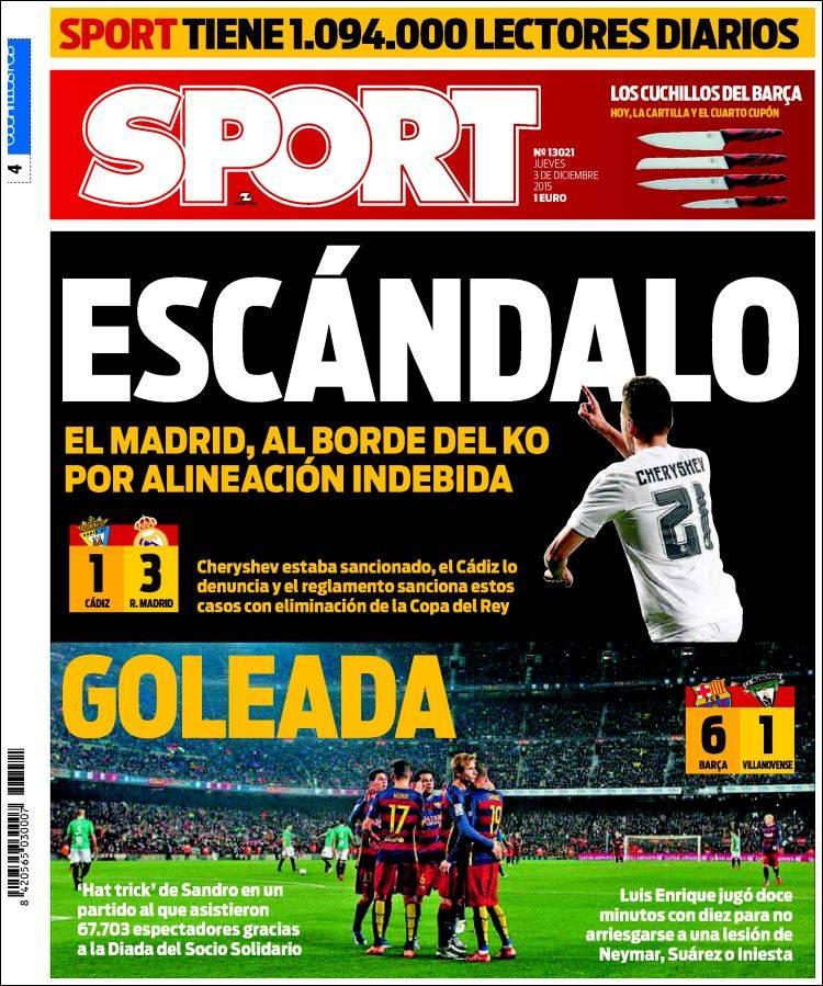 Sport Portada 03.12.15