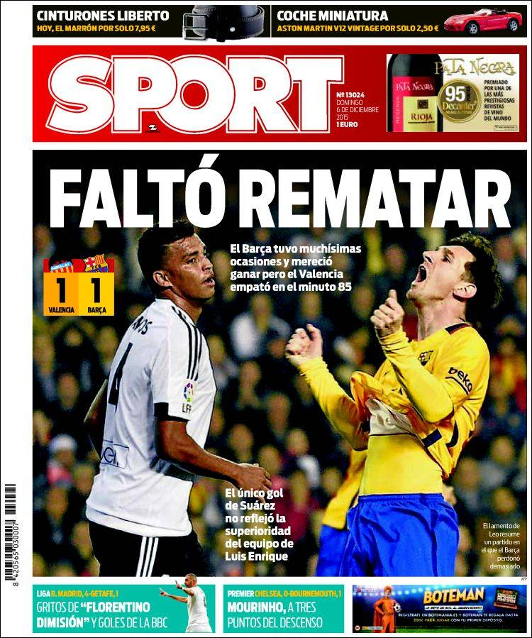 Sport Portada 06.12.15
