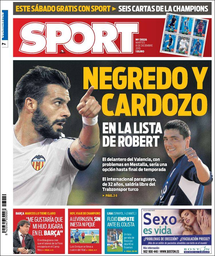 Sport Portada 08.12.15