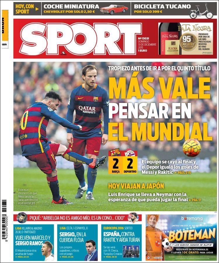 Sport Portada 13.12.15
