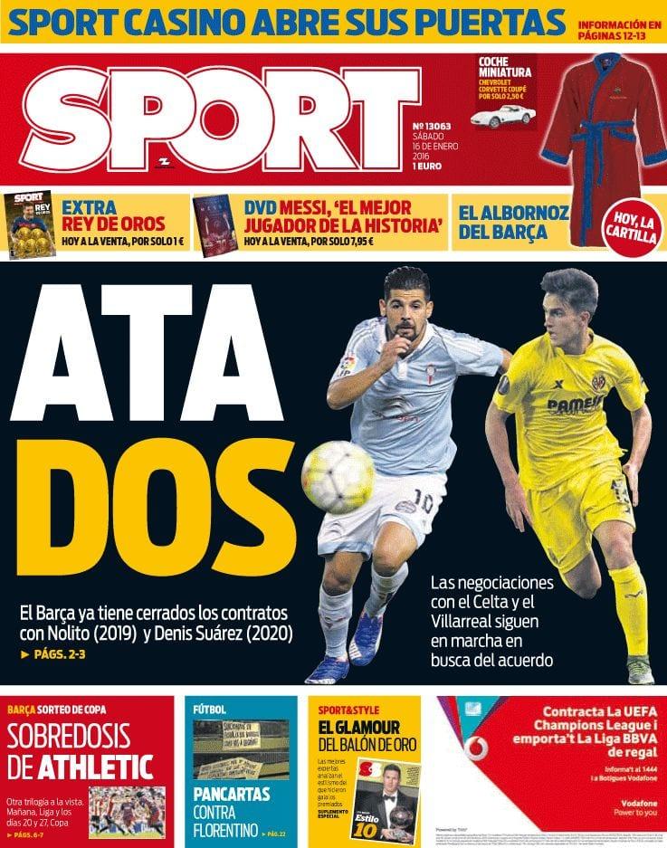 Sport Portada 16.01.16