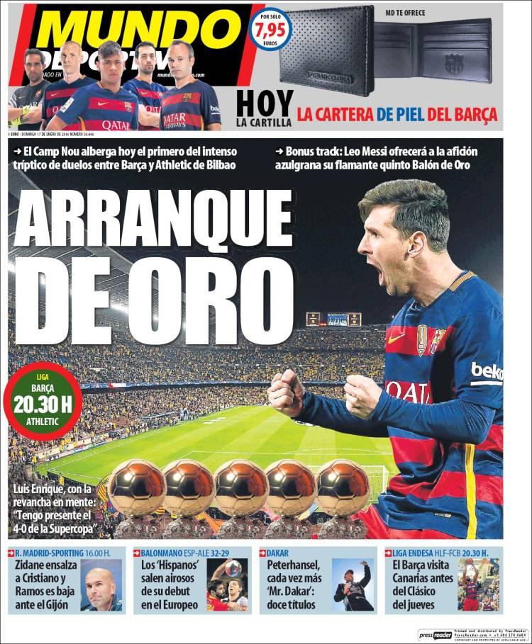 Mundo Deportivo Portada 17.01.16