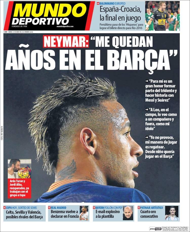 Mundo Deportivo Portada 29.01.16