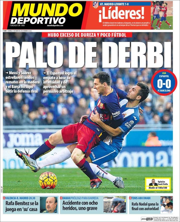 Mundo Deportivo Portada 03.01.16