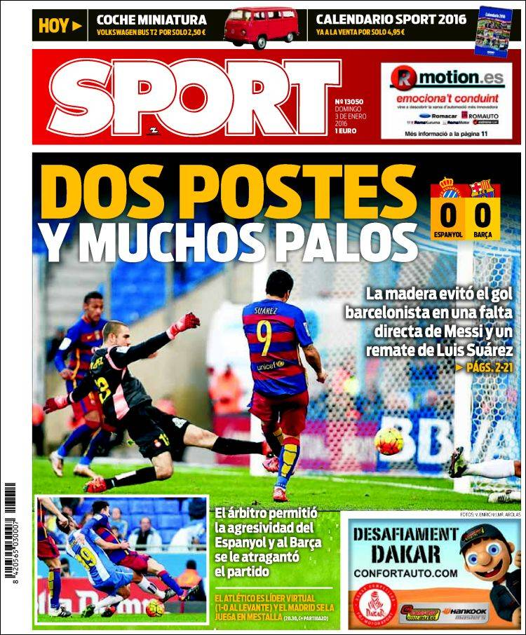 Sport Portada 03.01.16