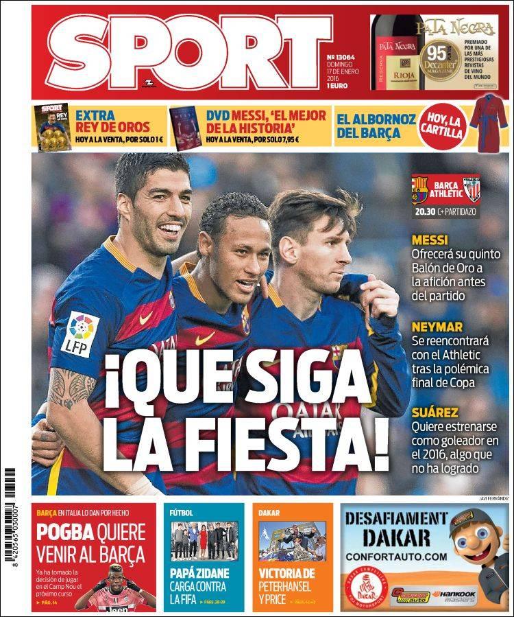 Sport Portada 17.01.16