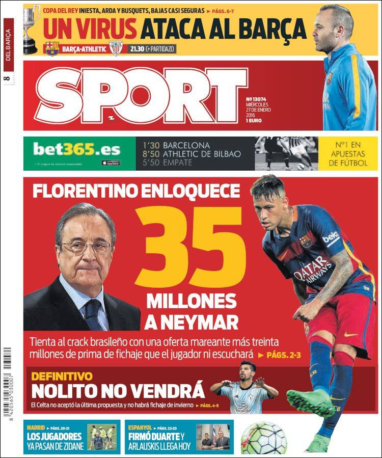 Sport Portada 27.01.16