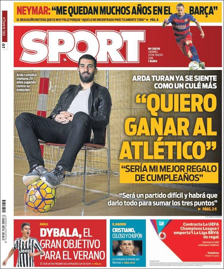 Sport Portada 29.01.16