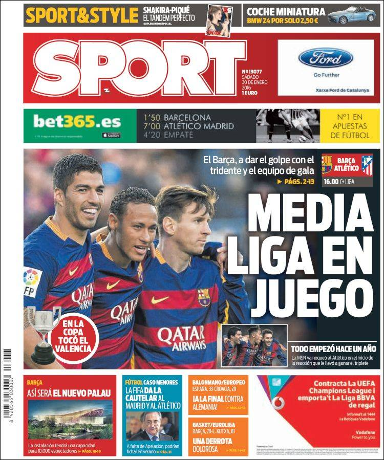 Sport Portada 30.01.16