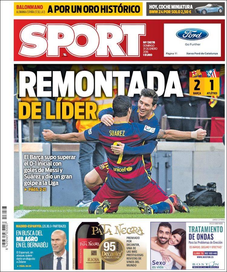 Sport Portada 31.01.16