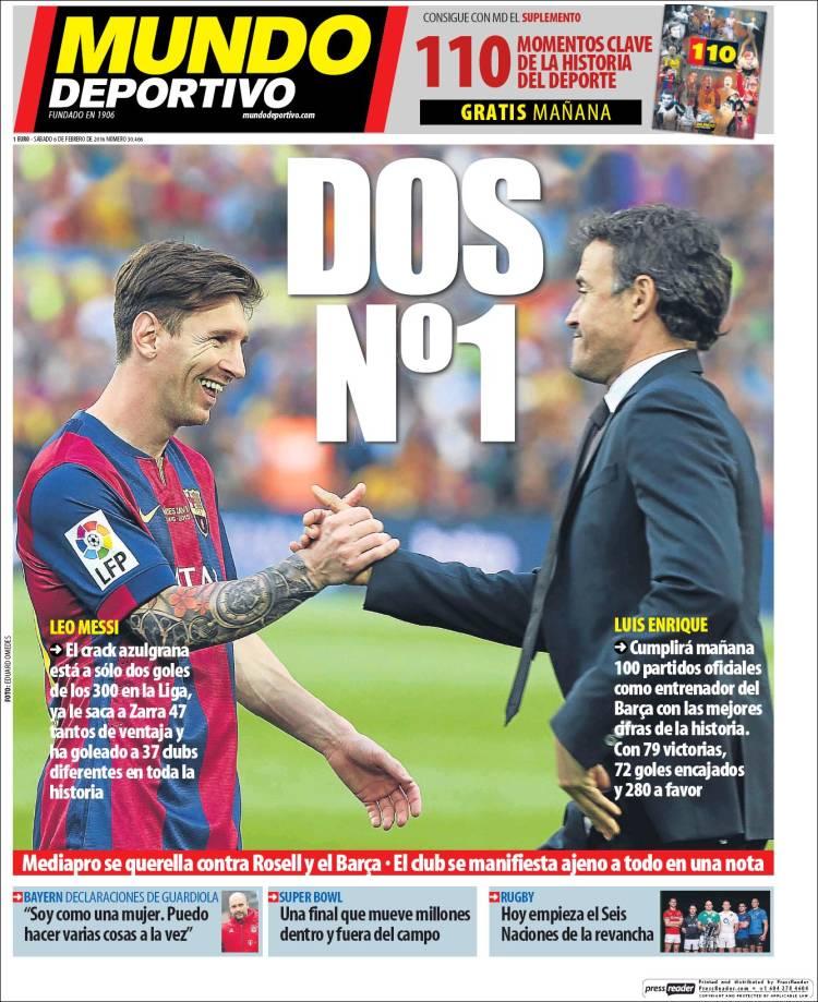 Mundo Deportivo Portada 06.02.16
