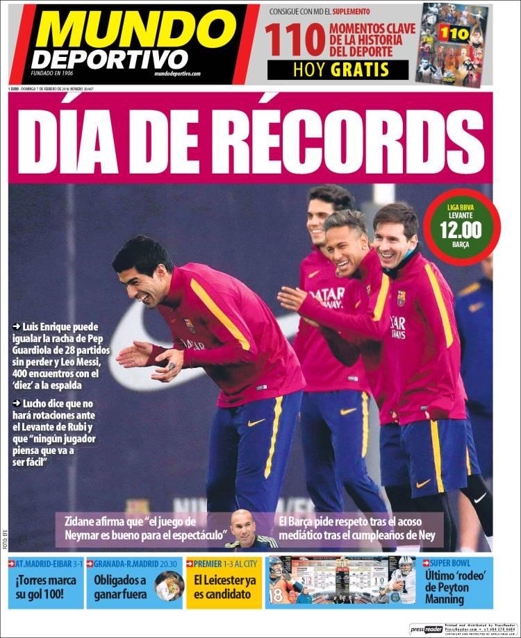 Mundo Deportivo Portada 07.02.16