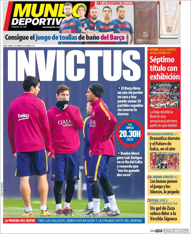 Mundo Deportivo 14.02.16
