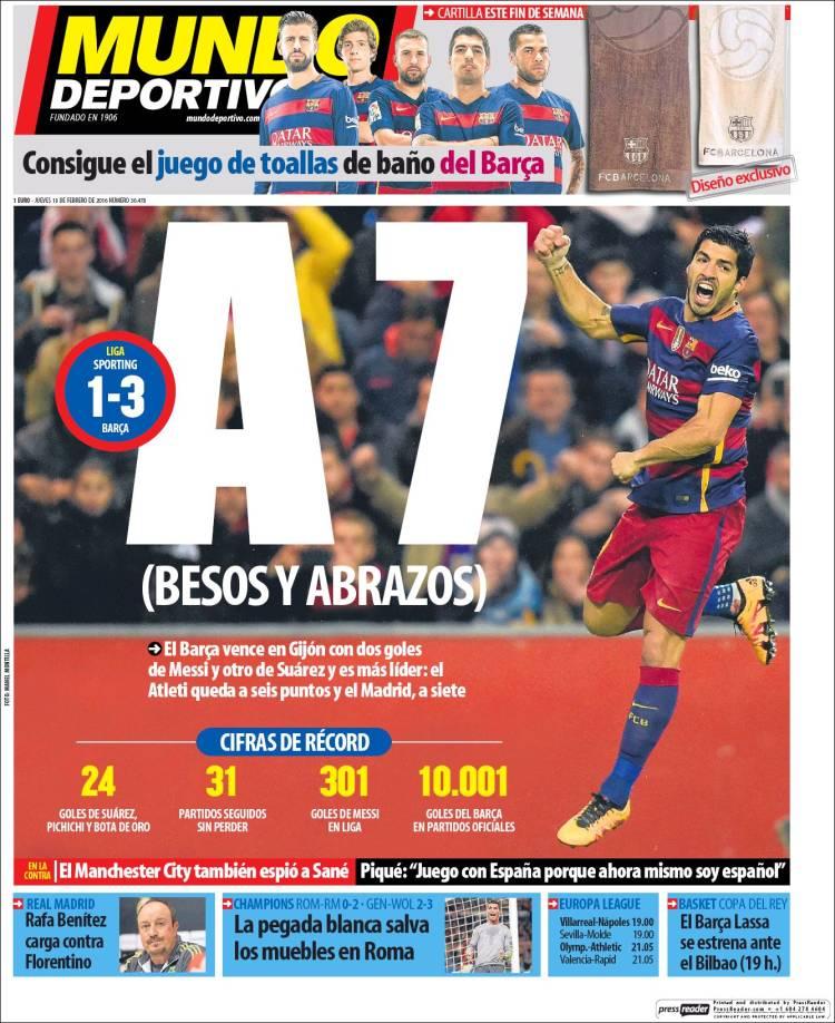 Mundo Deportivo Portada 18.02.16