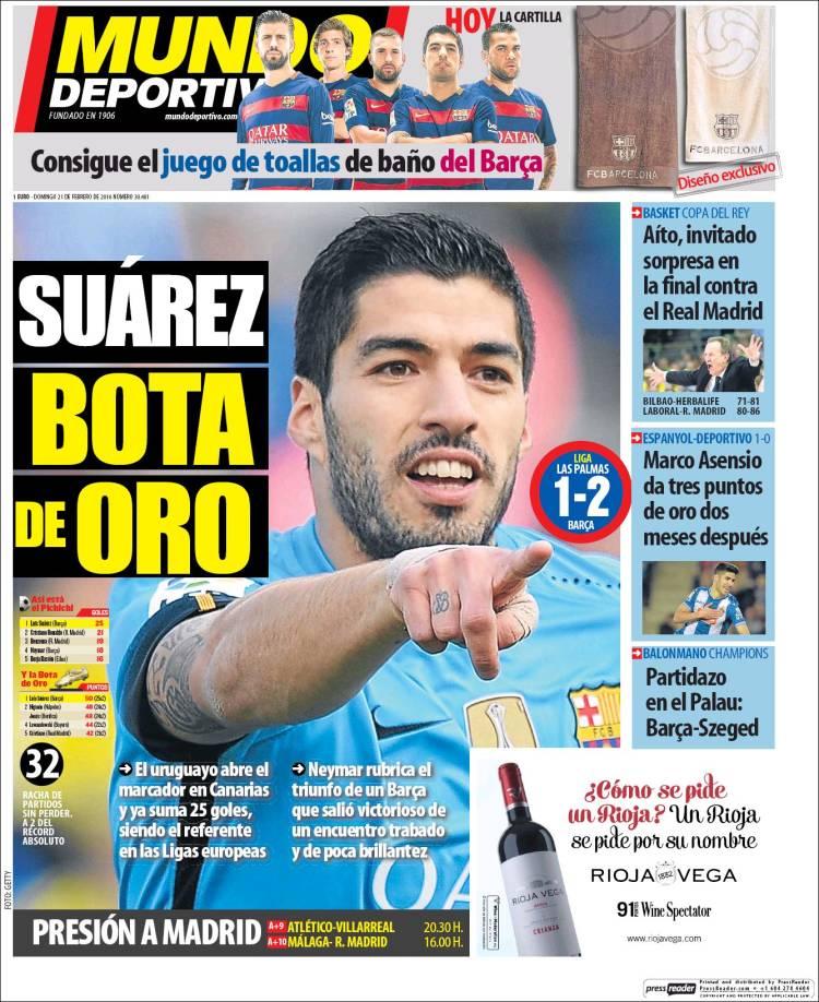 Mundo Deportivo Portada 21.02.16