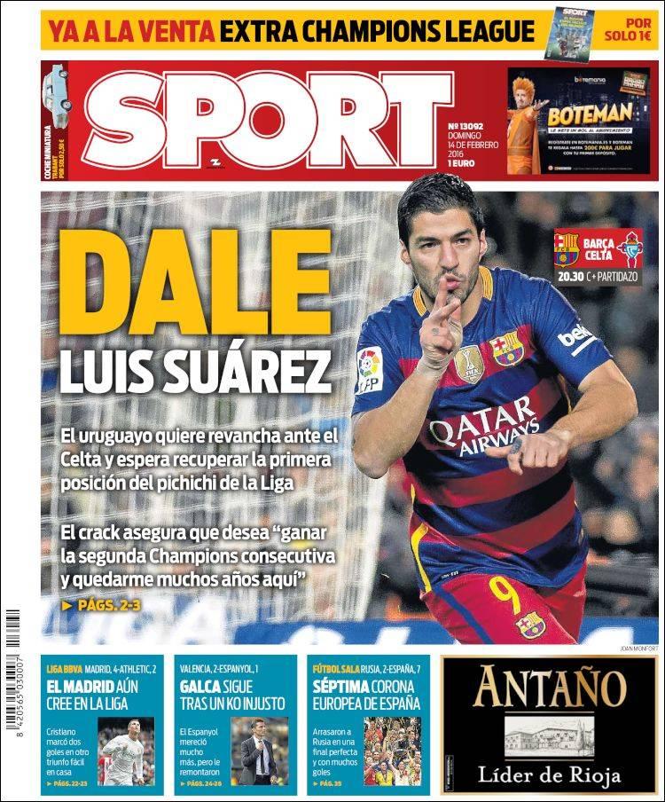 Sport Portada 14.02.16