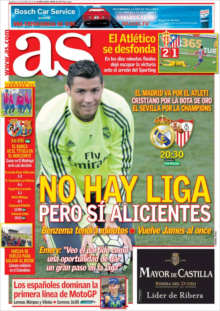 Portada As 20-03-16 Sevilla