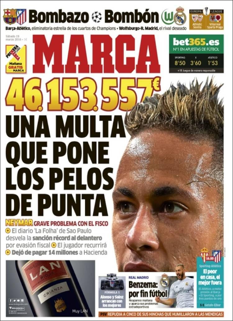 Marca Portada multa Neymar 19.03.16