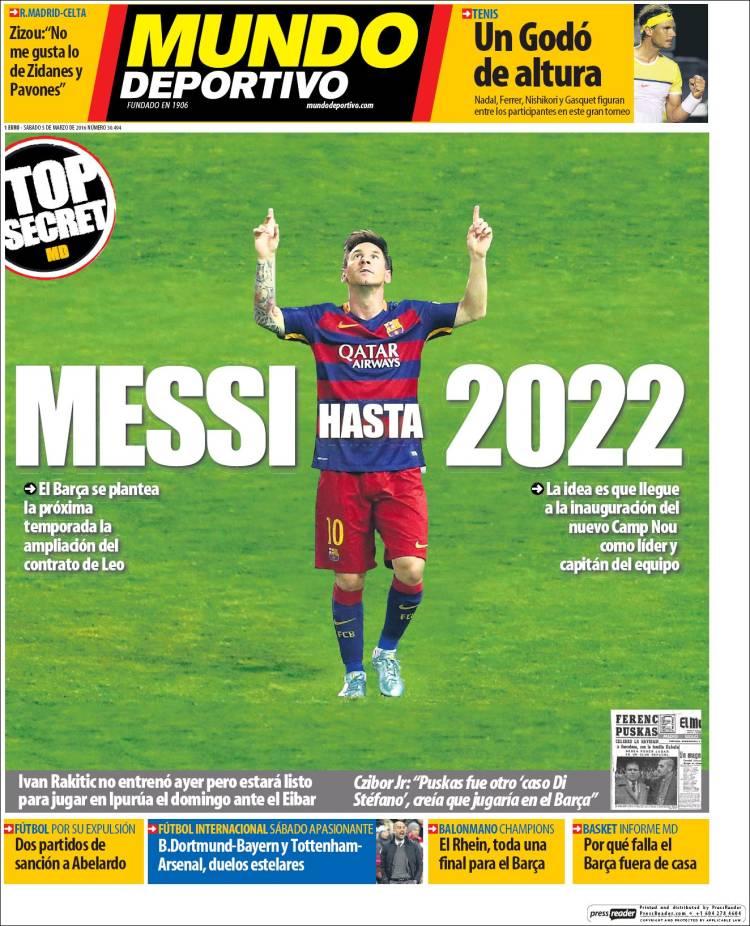 Mundo Deportivo Portada 05.03.16