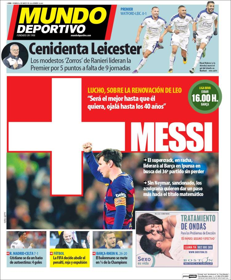 Mundo Deportivo Portada 06.03.16