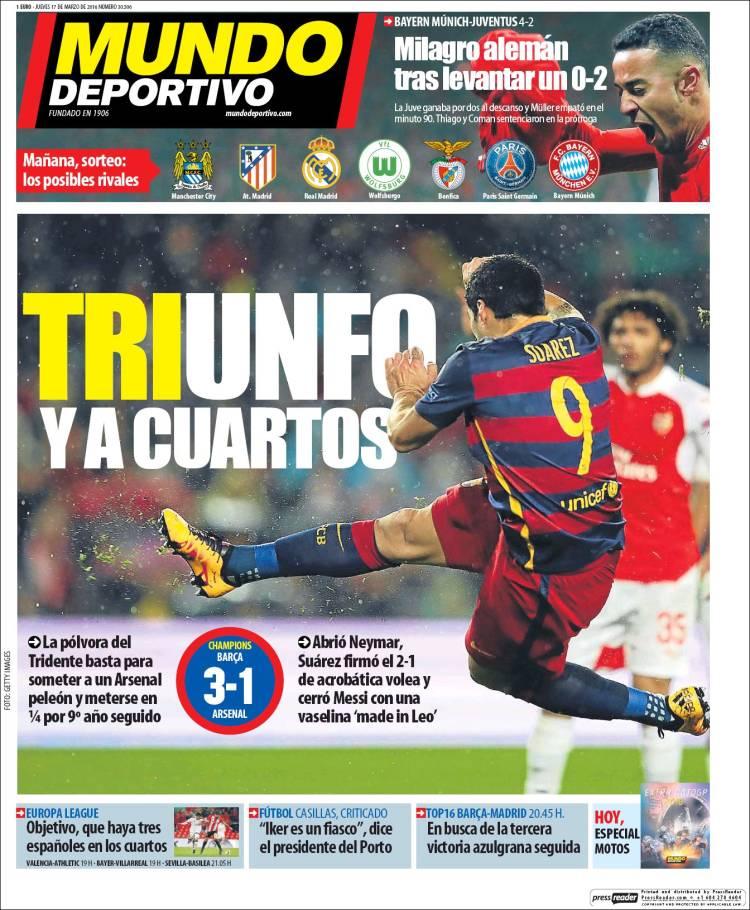 Mundo Deportivo Portada 17.03.16