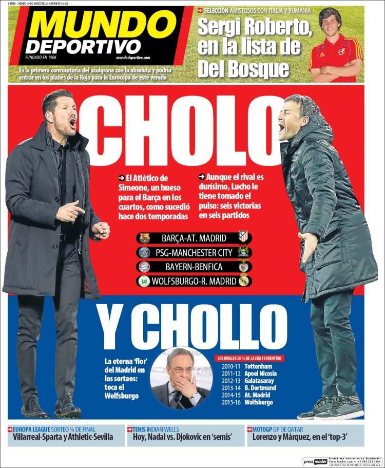 Mundo Deportivo Portada chollo 19.03.16